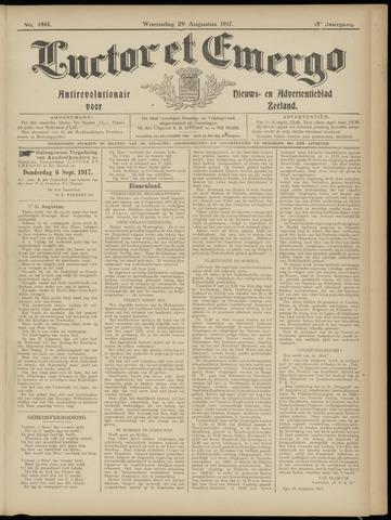 Luctor et Emergo. Antirevolutionair nieuws- en advertentieblad voor Zeeland / Zeeuwsch-Vlaanderen. Orgaan ter verspreiding van de christelijke beginselen in Zeeuwsch-Vlaanderen 1917-08-29