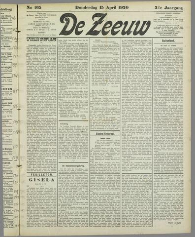 De Zeeuw. Christelijk-historisch nieuwsblad voor Zeeland 1920-04-15