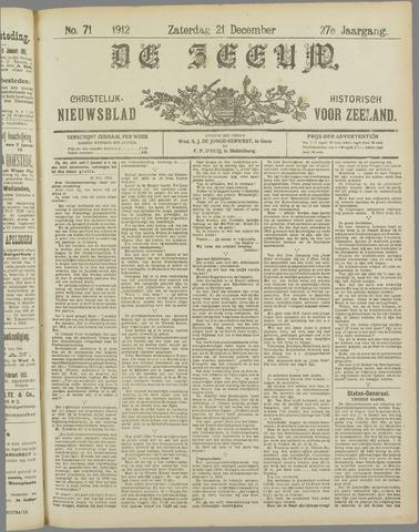 De Zeeuw. Christelijk-historisch nieuwsblad voor Zeeland 1912-12-21
