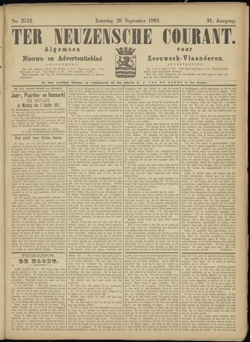 Ter Neuzensche Courant. Algemeen Nieuws- en Advertentieblad voor Zeeuwsch-Vlaanderen / Neuzensche Courant ... (idem) / (Algemeen) nieuws en advertentieblad voor Zeeuwsch-Vlaanderen 1891-09-26
