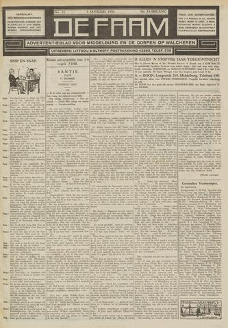 de Faam en de Faam/de Vlissinger 1934