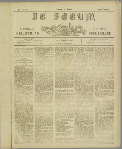 De Zeeuw. Christelijk-historisch nieuwsblad voor Zeeland 1895-02-26