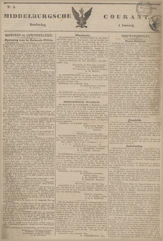Middelburgsche Courant 1844-01-04