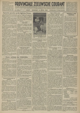 Provinciale Zeeuwse Courant 1942-04-14