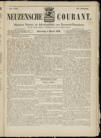 Ter Neuzensche Courant. Algemeen Nieuws- en Advertentieblad voor Zeeuwsch-Vlaanderen / Neuzensche Courant ... (idem) / (Algemeen) nieuws en advertentieblad voor Zeeuwsch-Vlaanderen 1876-03-04
