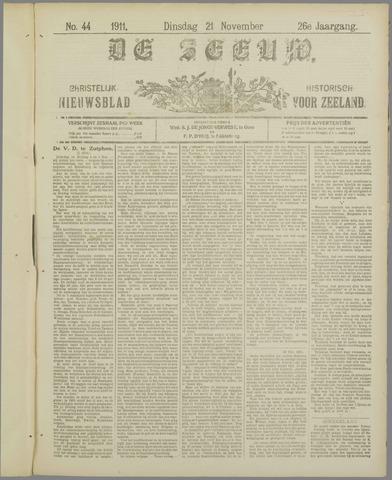 De Zeeuw. Christelijk-historisch nieuwsblad voor Zeeland 1911-11-21