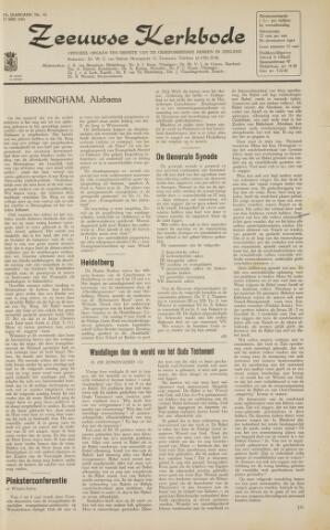 Zeeuwsche kerkbode, weekblad gewijd aan de belangen der gereformeerde kerken/ Zeeuwsch kerkblad 1963-05-17