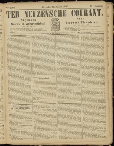 Ter Neuzensche Courant. Algemeen Nieuws- en Advertentieblad voor Zeeuwsch-Vlaanderen / Neuzensche Courant ... (idem) / (Algemeen) nieuws en advertentieblad voor Zeeuwsch-Vlaanderen 1887-01-12