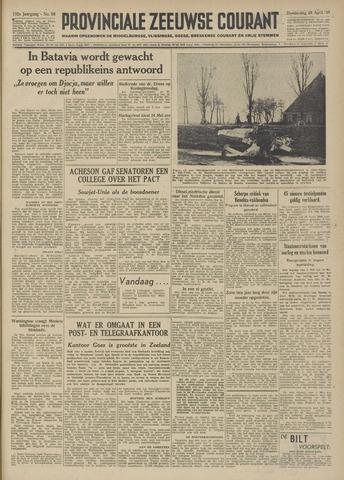 Provinciale Zeeuwse Courant 1949-04-28