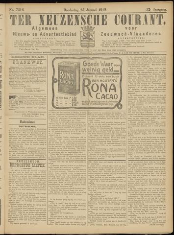 Ter Neuzensche Courant. Algemeen Nieuws- en Advertentieblad voor Zeeuwsch-Vlaanderen / Neuzensche Courant ... (idem) / (Algemeen) nieuws en advertentieblad voor Zeeuwsch-Vlaanderen 1912-01-25