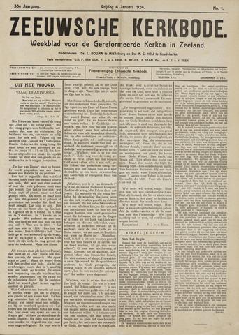 Zeeuwsche kerkbode, weekblad gewijd aan de belangen der gereformeerde kerken/ Zeeuwsch kerkblad 1924-01-04