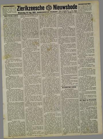 Zierikzeesche Nieuwsbode 1921-08-10