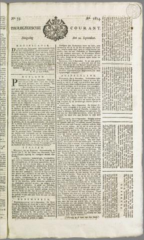 Zierikzeesche Courant 1814-09-20