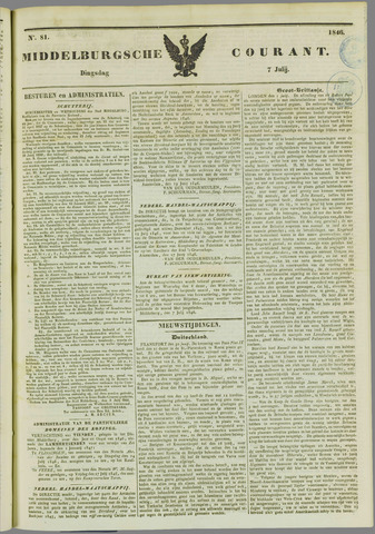 Middelburgsche Courant 1846-07-07