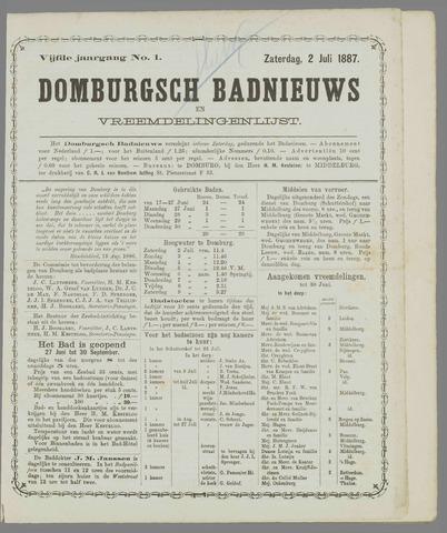 Domburgsch Badnieuws 1887