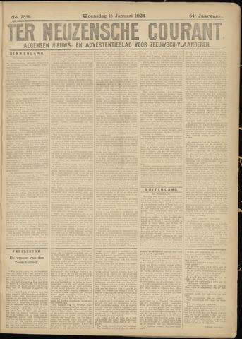 Ter Neuzensche Courant. Algemeen Nieuws- en Advertentieblad voor Zeeuwsch-Vlaanderen / Neuzensche Courant ... (idem) / (Algemeen) nieuws en advertentieblad voor Zeeuwsch-Vlaanderen 1924-01-16