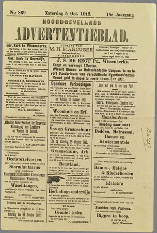 Noord-Bevelands Nieuws- en advertentieblad 1912-10-05