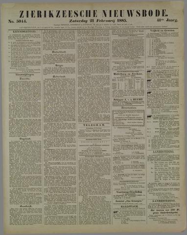Zierikzeesche Nieuwsbode 1885-02-21