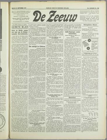 De Zeeuw. Christelijk-historisch nieuwsblad voor Zeeland 1937-09-10