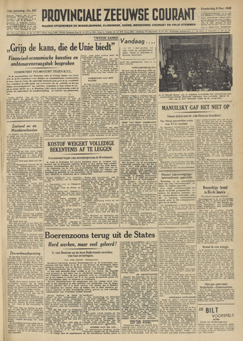 Provinciale Zeeuwse Courant 1949-12-08