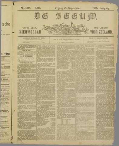De Zeeuw. Christelijk-historisch nieuwsblad voor Zeeland 1906-09-28