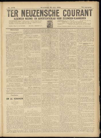 Ter Neuzensche Courant. Algemeen Nieuws- en Advertentieblad voor Zeeuwsch-Vlaanderen / Neuzensche Courant ... (idem) / (Algemeen) nieuws en advertentieblad voor Zeeuwsch-Vlaanderen 1934-07-30