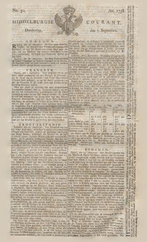 Middelburgsche Courant 1758-09-07