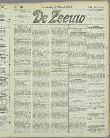 De Zeeuw. Christelijk-historisch nieuwsblad voor Zeeland 1920-03-03