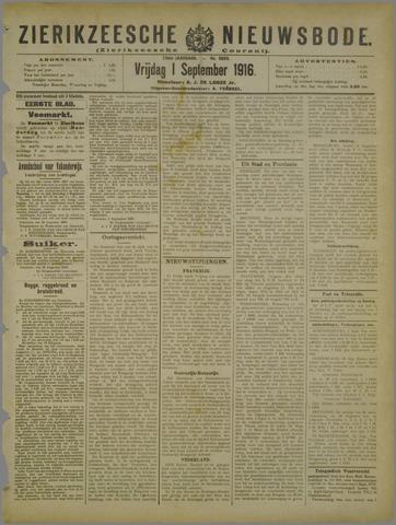 Zierikzeesche Nieuwsbode 1916-09-01