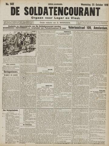 De Soldatencourant. Orgaan voor Leger en Vloot 1916-10-25