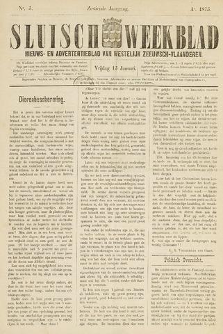 Sluisch Weekblad. Nieuws- en advertentieblad voor Westelijk Zeeuwsch-Vlaanderen 1875-01-15