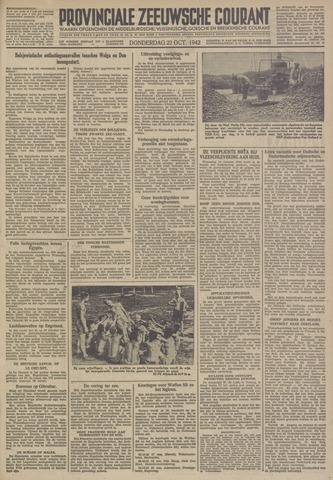 Provinciale Zeeuwse Courant 1942-10-22