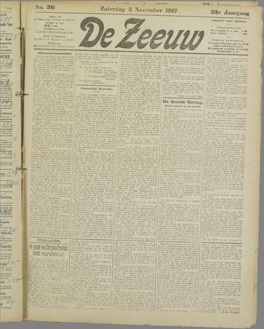 De Zeeuw. Christelijk-historisch nieuwsblad voor Zeeland 1917-11-03