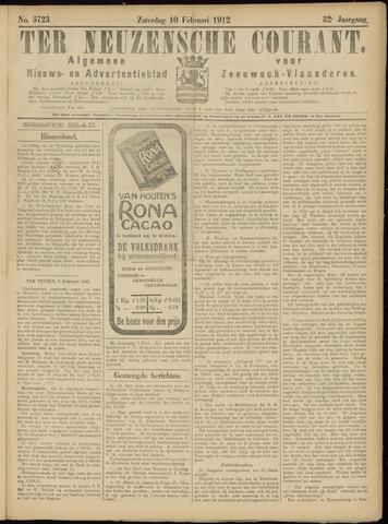 Ter Neuzensche Courant. Algemeen Nieuws- en Advertentieblad voor Zeeuwsch-Vlaanderen / Neuzensche Courant ... (idem) / (Algemeen) nieuws en advertentieblad voor Zeeuwsch-Vlaanderen 1912-02-10