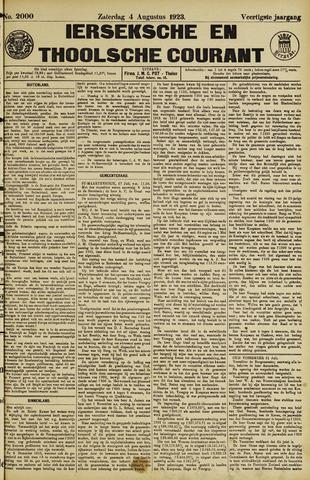 Ierseksche en Thoolsche Courant 1923-08-04