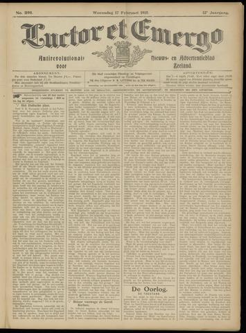 Luctor et Emergo. Antirevolutionair nieuws- en advertentieblad voor Zeeland / Zeeuwsch-Vlaanderen. Orgaan ter verspreiding van de christelijke beginselen in Zeeuwsch-Vlaanderen 1915-02-17