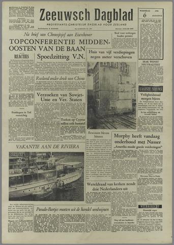 Zeeuwsch Dagblad 1958-08-06