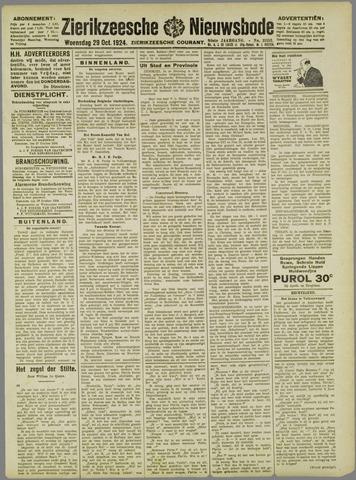 Zierikzeesche Nieuwsbode 1924-10-29