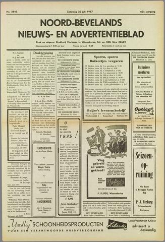 Noord-Bevelands Nieuws- en advertentieblad 1957-07-20