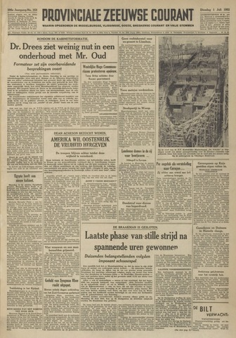 Provinciale Zeeuwse Courant 1952-07-01