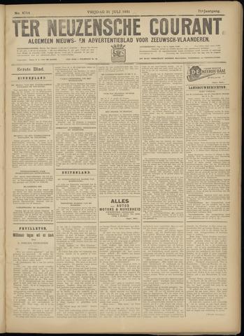 Ter Neuzensche Courant. Algemeen Nieuws- en Advertentieblad voor Zeeuwsch-Vlaanderen / Neuzensche Courant ... (idem) / (Algemeen) nieuws en advertentieblad voor Zeeuwsch-Vlaanderen 1931-07-31