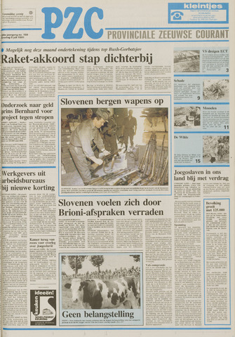 Provinciale Zeeuwse Courant 1991-07-09