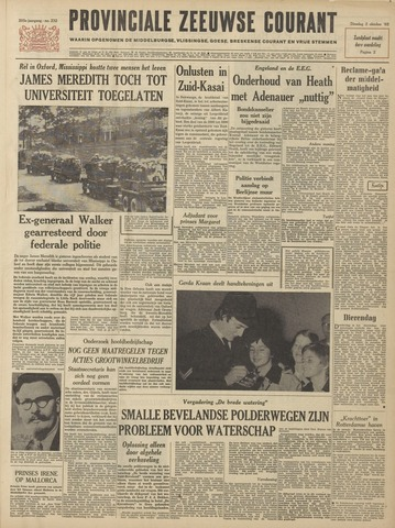 Provinciale Zeeuwse Courant 1962-10-02
