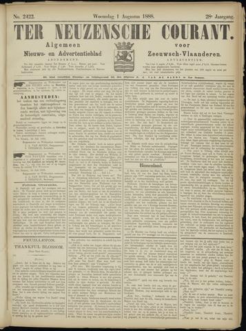 Ter Neuzensche Courant. Algemeen Nieuws- en Advertentieblad voor Zeeuwsch-Vlaanderen / Neuzensche Courant ... (idem) / (Algemeen) nieuws en advertentieblad voor Zeeuwsch-Vlaanderen 1888-08-01