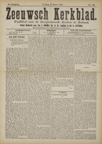 Zeeuwsche kerkbode, weekblad gewijd aan de belangen der gereformeerde kerken/ Zeeuwsch kerkblad 1909-03-19