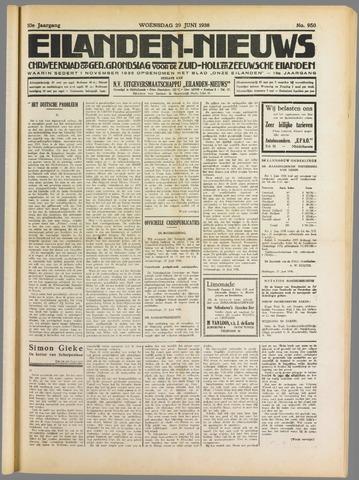 Eilanden-nieuws. Christelijk streekblad op gereformeerde grondslag 1938-06-29