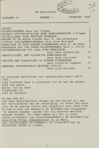de Steltkluut 1992-02-01