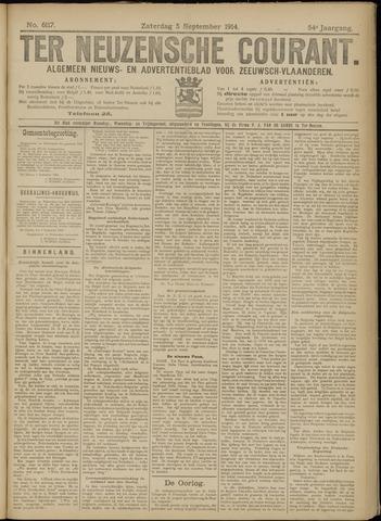 Ter Neuzensche Courant. Algemeen Nieuws- en Advertentieblad voor Zeeuwsch-Vlaanderen / Neuzensche Courant ... (idem) / (Algemeen) nieuws en advertentieblad voor Zeeuwsch-Vlaanderen 1914-09-05