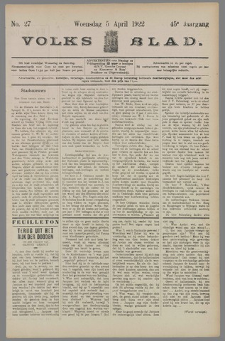 Volksblad 1922-04-05