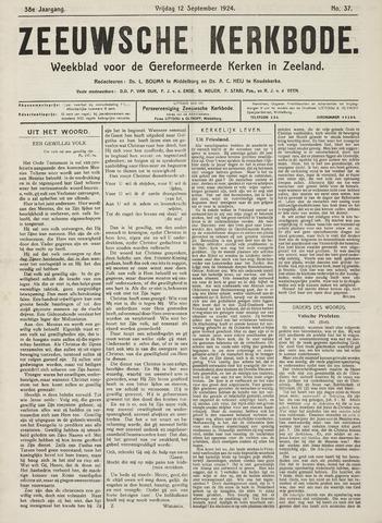 Zeeuwsche kerkbode, weekblad gewijd aan de belangen der gereformeerde kerken/ Zeeuwsch kerkblad 1924-09-12